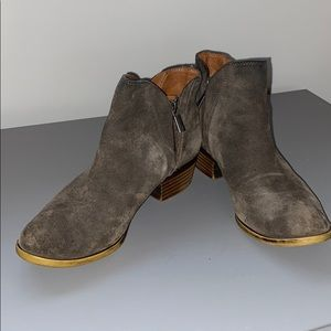 Lucky Brand Brenon bootie gray suede